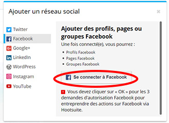 se connecter a facebook av
