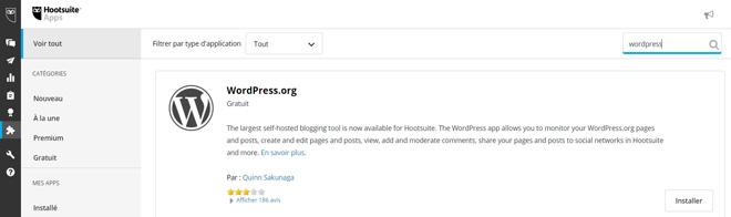 Ajouter votre blog Wordpress